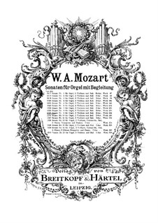 Church Sonata for Two Violins, Organ and Basso Continuo No.10 in F Major, K.244: Partitura completa by Wolfgang Amadeus Mozart