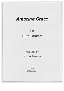 Amazing Grace: para quarteto de flauta by folklore