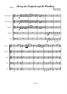 Entry of the Guests on the Wartburg: Für Bläserquintett by Richard Wagner