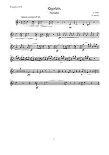 Fragments: Vorspiel, for wind quintet – Trompete 1 in B by Giuseppe Verdi