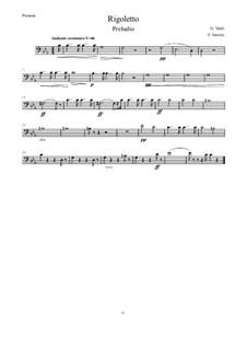 Fragments: Vorspiel, for wind quintet – Posaune in C by Giuseppe Verdi