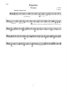 Fragments: Vorspiel, for wind quintet – Tuba in C by Giuseppe Verdi