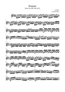 Suite for Cello No.1 in G Major, BWV 1007: Prelude. Version for guitar by Johann Sebastian Bach