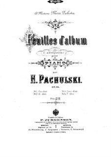Album Leaves, Op.16: Album Leaves by Henryk Pachulski