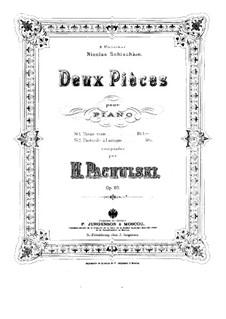 Two Pieces for Piano, Op.20: duas peças para piano by Henryk Pachulski
