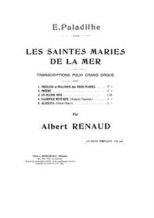 Les Saintes-Marie de la mer: No.5 Alleluia, for Organ by Emile Paladilhe