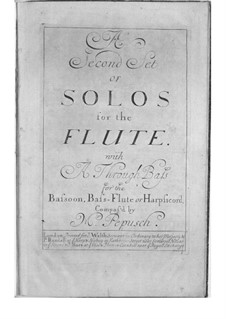 Six Sonatas for Flute and Basso Continuo. Book II: Six Sonatas for Flute and Basso Continuo. Book II by Johann Christoph Pepusch