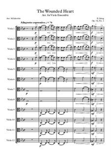 Two Elegiac Melodies, Op.34: No.1 Hjertesår, for viola ensemble by Edvard Grieg