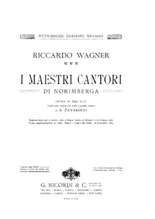 Complete Opera: Partitura Piano-vocal by Richard Wagner