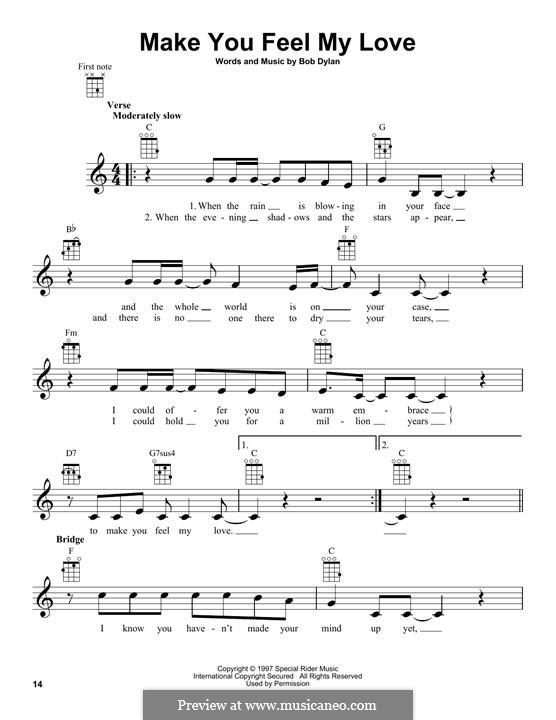 Make You Feel My Love: para ukulele by Bob Dylan
