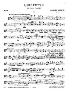 Piano Quintet in E Minor, Op.41: parte viola by Gabriel Pierné