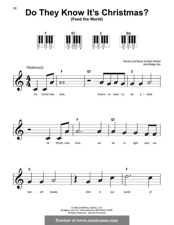 Do They Know It's Christmas? (Feed the World): Para Piano by Bob Geldof, Midge Ure