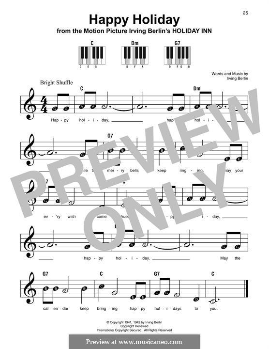 Happy Holiday: Para Piano by Irving Berlin