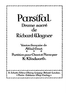 Complete Opera: For voices and piano (German and french texts) by Richard Wagner