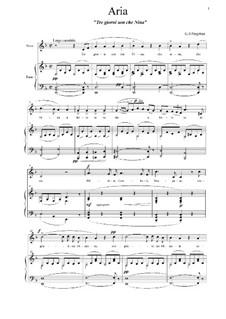 Tre giorni son che Nina: Para vocais e piano by Giovanni Battista Pergolesi