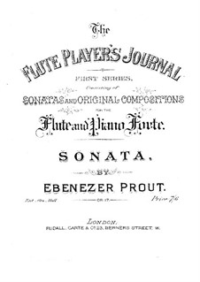 Sonata for Flute and Piano in A Major, Op.17: Score by Ebenezer Prout