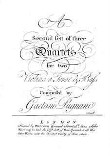 Three String Quartets: Três Quartetos de Cordas by Gaetano Pugnani