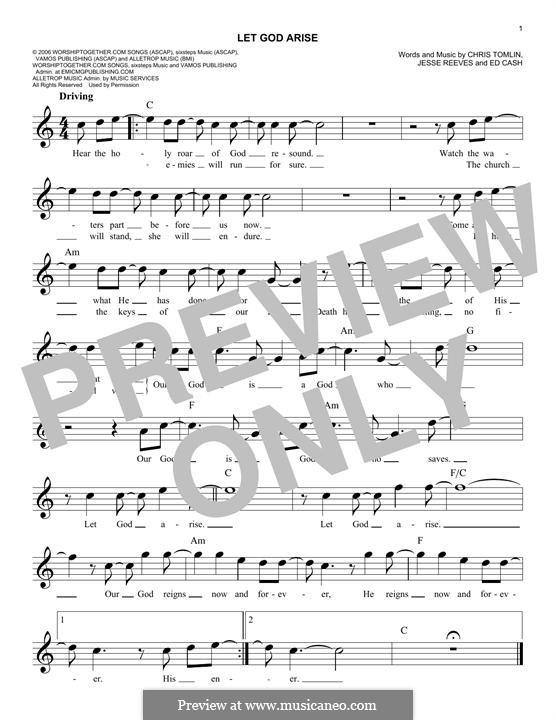 Let God Arise: melodia by Chris Tomlin, Ed Cash, Jesse Reeves