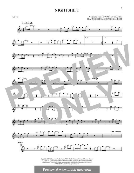 Nightshift (The Commodores): para flauta by Dennis Lambert, Francine Golde, Walter Orange