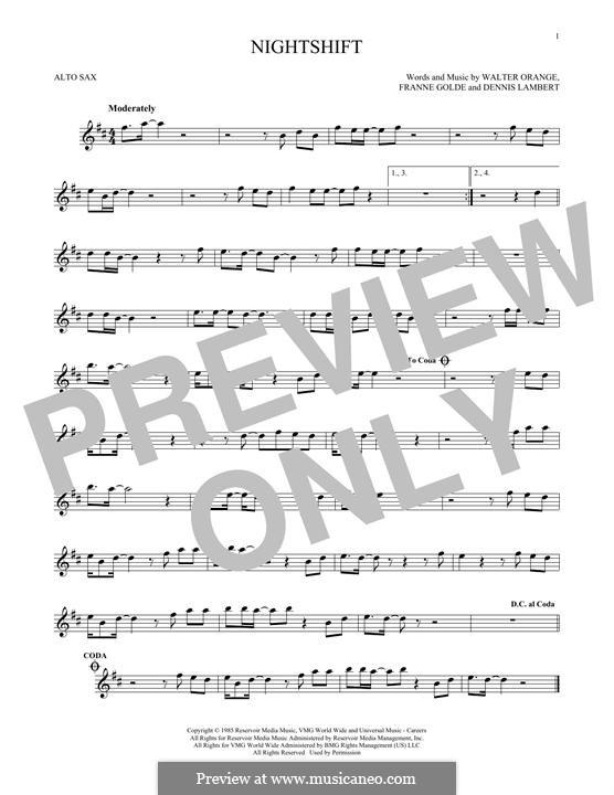 Nightshift (The Commodores): para Saxofone Alto by Dennis Lambert, Francine Golde, Walter Orange