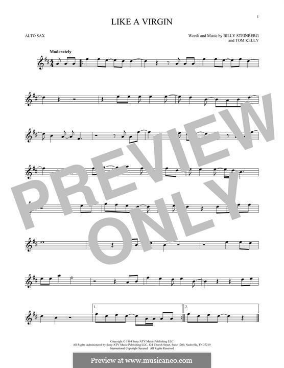 Like a Virgin (Madonna): para Saxofone Alto by Billy Steinberg, Tom Kelly