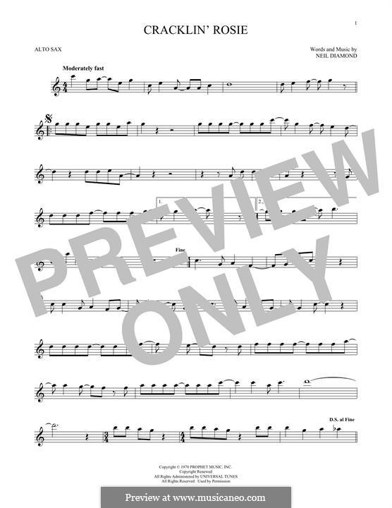 Cracklin' Rosie: para Saxofone Alto by Neil Diamond