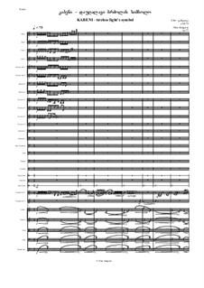 Kabeni - tireless fight's symbol, Op.75: Kabeni - tireless fight's symbol by Nino Janjgava