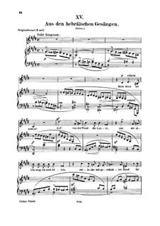 No.15 Aus den hebräischen Gesängen (Stances hébraïques): Para vocais e piano by Robert Schumann