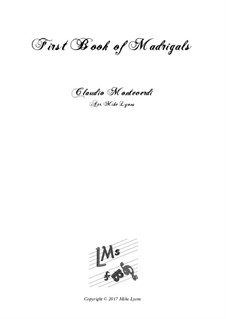 Book 1 (a cinque voci), SV 23–39: Arrangement for quintet instruments by Claudio Monteverdi