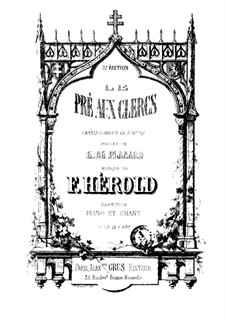 Le pré aux clercs (The Clerks' Meadow): Partitura Piano-vocal by Ferdinand Herold