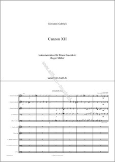 Canzon XII: Canzon XII by Giovanni Gabrieli