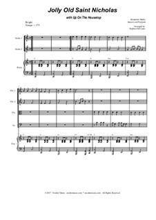 Jolly Old Saint Nicholas with Up On The Housetop: para quartetos de cordas by Benjamin Russel Hanby, James Lord Pierpont