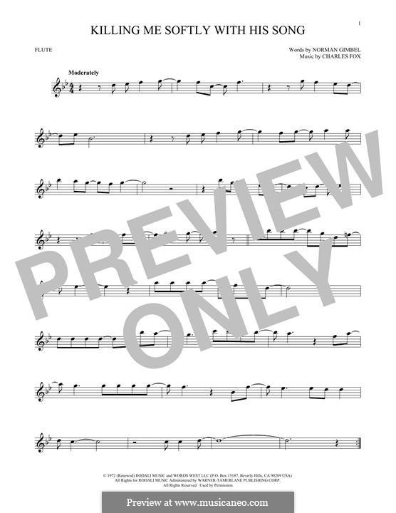 Killing Me Softly with His Song: para flauta by Charles Fox
