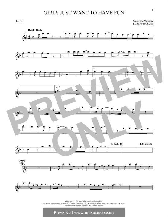Girls Just Want to Have Fun: para flauta by Robert Hazard