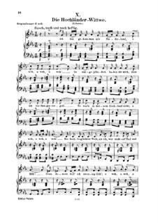 No.10 Die Hochländer-Witwe (Highland Widow's): Para vocais e piano by Robert Schumann
