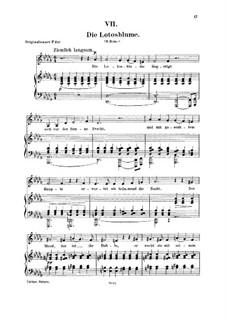 No.7 Die Lotosblume (La fleur de lotus): Para vocais e piano by Robert Schumann