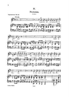No.2 Freisinn (Laissez-moi gaiement monter en selle): Para vocais e piano by Robert Schumann