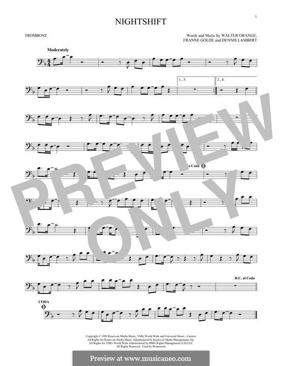 Nightshift (The Commodores): para trombone by Dennis Lambert, Francine Golde, Walter Orange