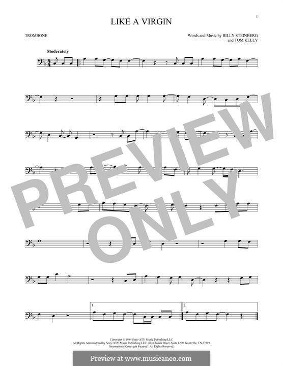 Like a Virgin (Madonna): para trombone by Billy Steinberg, Tom Kelly