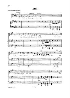 No.13 I Wept in My Dream: Para vocais e piano by Robert Schumann
