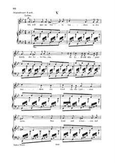 No.5 I Want to Bathe My Soul in the Chalice of the Lily: Para vocais e piano by Robert Schumann