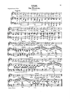 No.23 Im Westen (Dans l'ouest): Para vocais e piano by Robert Schumann