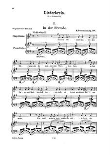 No.1 In der Fremde (Abroad): Para vocais e piano by Robert Schumann