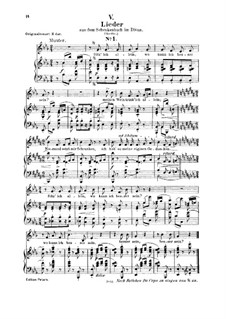 No.5 Sitz' ich allein (Chansons à boire): Para vocais e piano by Robert Schumann