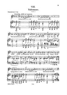 No.8 Talismane (Talismans): Para vocais e piano by Robert Schumann