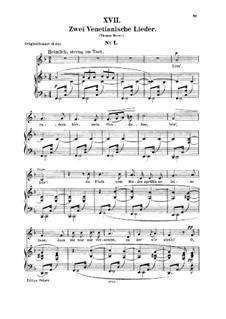 No.17 Venetian Song No.1: Para vocais e piano by Robert Schumann