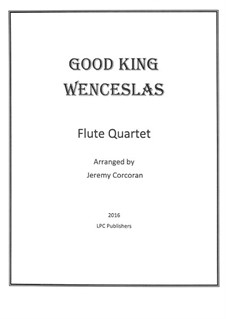 Good King Wenceslas: para quarteto de flauta by folklore