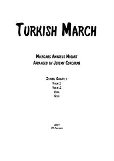 Rondo alla turca: para quartetos de cordas by Wolfgang Amadeus Mozart