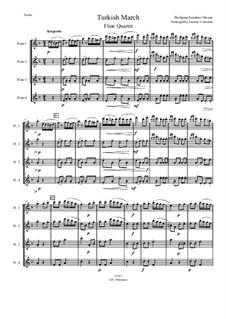 Rondo alla turca: para quarteto de flauta by Wolfgang Amadeus Mozart
