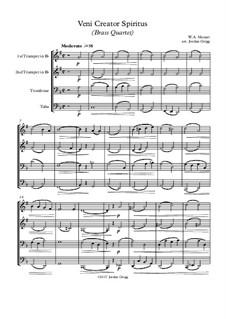 Veni Creator Spiritus: para quarteto de bronze by Wolfgang Amadeus Mozart